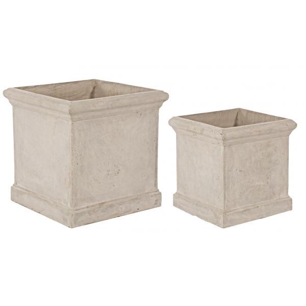 Set De 2 Vase Patrate Cement-0790563-Siart