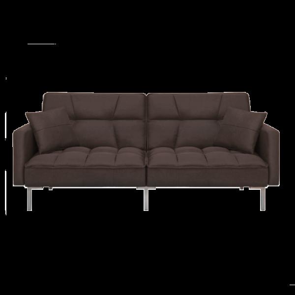 Canapea Fluffy, extensibila cu 3 locuri, din textil, 191cm, maro - Siart