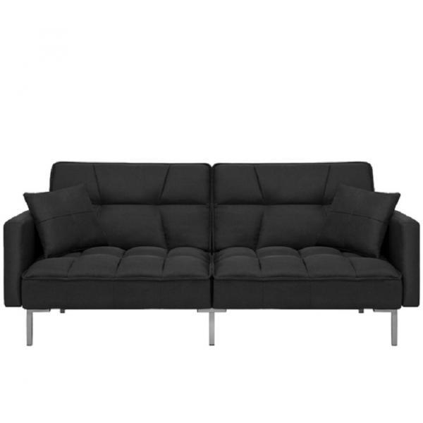 Canapea Fluffy, extensibila cu 3 locuri, din textil, 191cm, culoare neagra - Siart